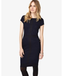 Phase Eight Magda Colour Block Dress Indigo/Black Dresses