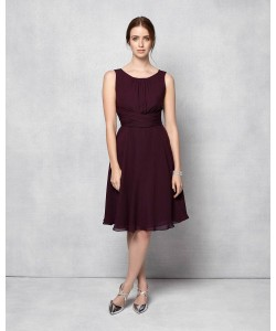 Phase Eight Marti Chiffon Dress Grape Dresses