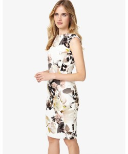 Phase Eight Mayumi Print Dress Cream Dresses