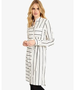 Phase Eight Naia Stripe Shirt Dress Ivory/Black Dresses