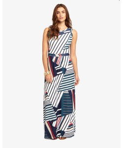 Phase Eight Natalie Stripe Maxi Dress Multi-coloured Dresses