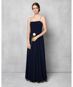 Phase Eight Paola Beaded Full Length Dress Navy Dresses
