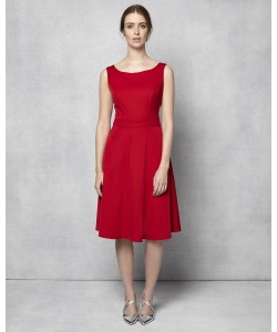 Phase Eight Pascale Grosgrain Dress Scarlet Dresses