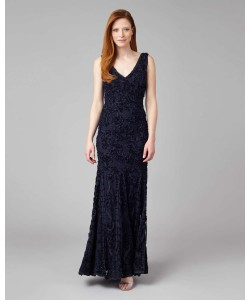 Phase Eight Rosa Tapework Full Length Dress Navy Dresses