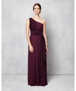 Phase Eight Saffron One Shoulder Full Length Dress Grape Dresses