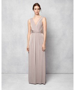 Phase Eight Samantha Full Length Dress Latte Dresses