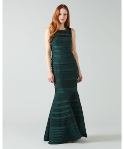 Phase Eight Shannon Layered Full Length Dress Emerald Dresses