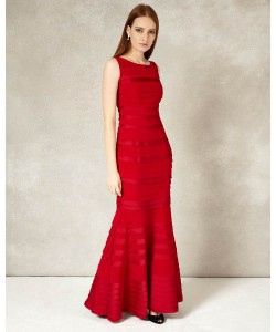 Phase Eight Shannon Layered Full Length Dress Rouge Dresses