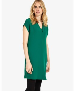 Phase Eight Vivian V-Neck Tunic Dress Green Dresses