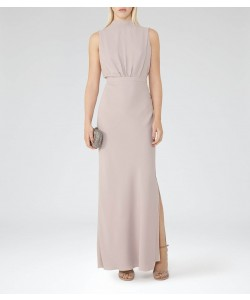 Reiss Adria Orchid Blossom High-Neck Maxi Dress