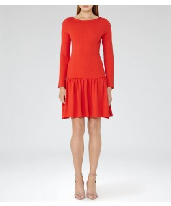 Reiss Agnes Clementine Drop-Waist Jersey Dress