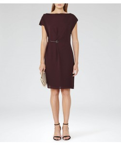 Reiss Baye Garnet Chain-Detail Dress