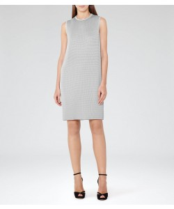 Reiss Beya Glacier Pleated Shift Dress