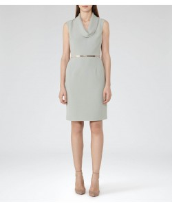 Reiss Coraline Fern Cowl-Neck Dress