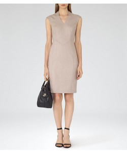 Reiss Valina Dress Pink Tailored Dress