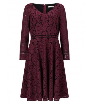 Jacques Vert Lace And Detail Dress Multi Red Dresses