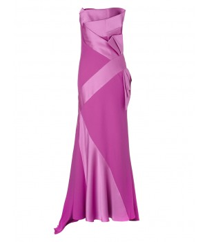 Jacques Vert Lorcan Satin Crepe Bow Gown Mid Pink Dresses