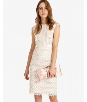 Phase Eight Ally Lace Layered Dress Cameo/Ivory Dresses