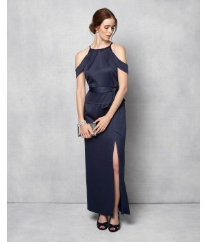 Phase Eight Amail Full Length Dress Navy Dresses