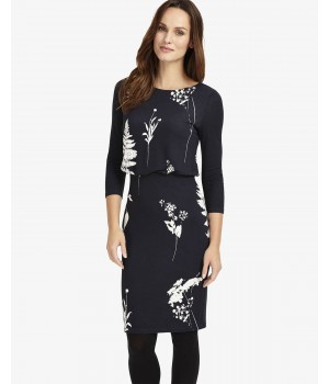 Phase Eight Conway Print Dress Navy/Ivory Dresses