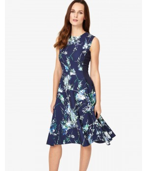 Phase Eight Darla Floral Dress Ink Dresses