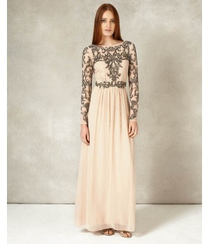 Phase Eight Electra Full Length Dress Champagne Dresses