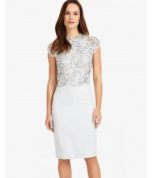 Phase Eight Josephina Lace Dress Mineral Dresses