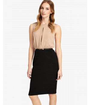 Phase Eight Naima Two in One Dress Nude/Black Dresses