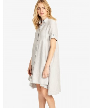 Phase Eight Roxie Linen Dress Grey Dresses