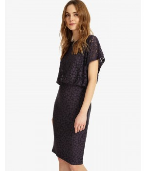 Phase Eight Sandra Spot Burnout Dress Charcoal Dresses