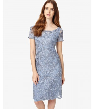 Phase Eight Talia Embroidered Dress Bluebell Dresses