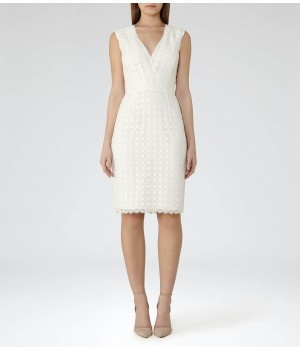 Reiss Eris Off White Lace Dress
