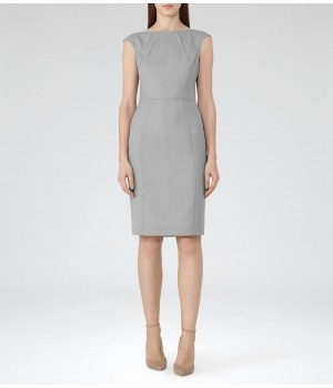 Reiss Kent Dress Grey Tailored Dress