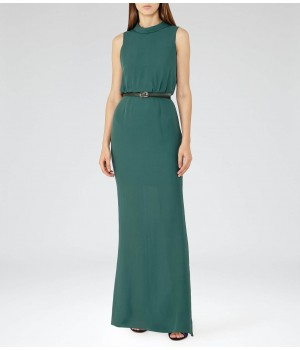 Reiss Ora Dew High-Neck Maxi Dress