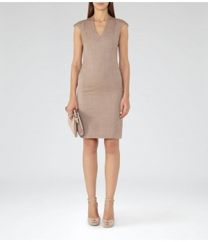Reiss Turner Dress Burnt Rose Tailored Dress