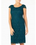 Jacques Vert Beaded Lace Dress Dark Green Dresses