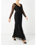 Jacques Vert Embellished Maxi Dress Black Dresses