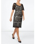 Jacques Vert Leaf Lace Dress Multi Black Dresses, Jacques Vert Item No.10044330