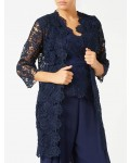 Jacques Vert Navy Lace Jacket Navy Dresses