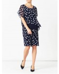 Jacques Vert New Spot Layers Dress Multi Navy Dresses