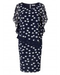 Jacques Vert New Spot Layers Dress Multi Navy Dresses 10045059 | jacquesvertdressuk.com