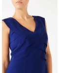 Jacques Vert Panel Layers Shift Mid Blue Dresses