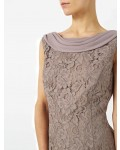 Jacques Vert Petite Lace Cape Dress Mid Brown Dresses