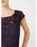 Jacques Vert Petite Lace Shift Dress Dark Purple Dresses