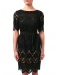 Jacques Vert Petite Layer Lace Dress Multi Black Dresses