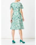 Jacques Vert Petite Printed Soft Dress Multi Green Dresses