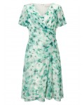 Jacques Vert Petite Printed Soft Dress Multi Green Dresses 10045023 | jacquesvertdressuk.com