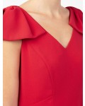 Jacques Vert Red Bow Detail Dress Mid Red Dresses