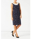Jacques Vert Spot Crepe Dress Multi Navy Dresses, Jacques Vert Item No.10044372