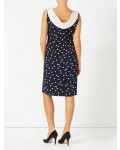 Jacques Vert Spot Crepe Dress Multi Navy Dresses